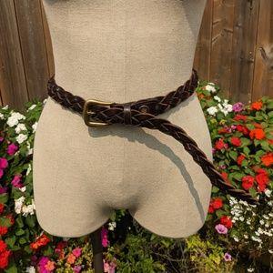 Vintage Patagonia leather braided belt unisex